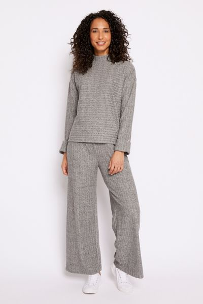 Ribbed Grey Co-ord Jumper