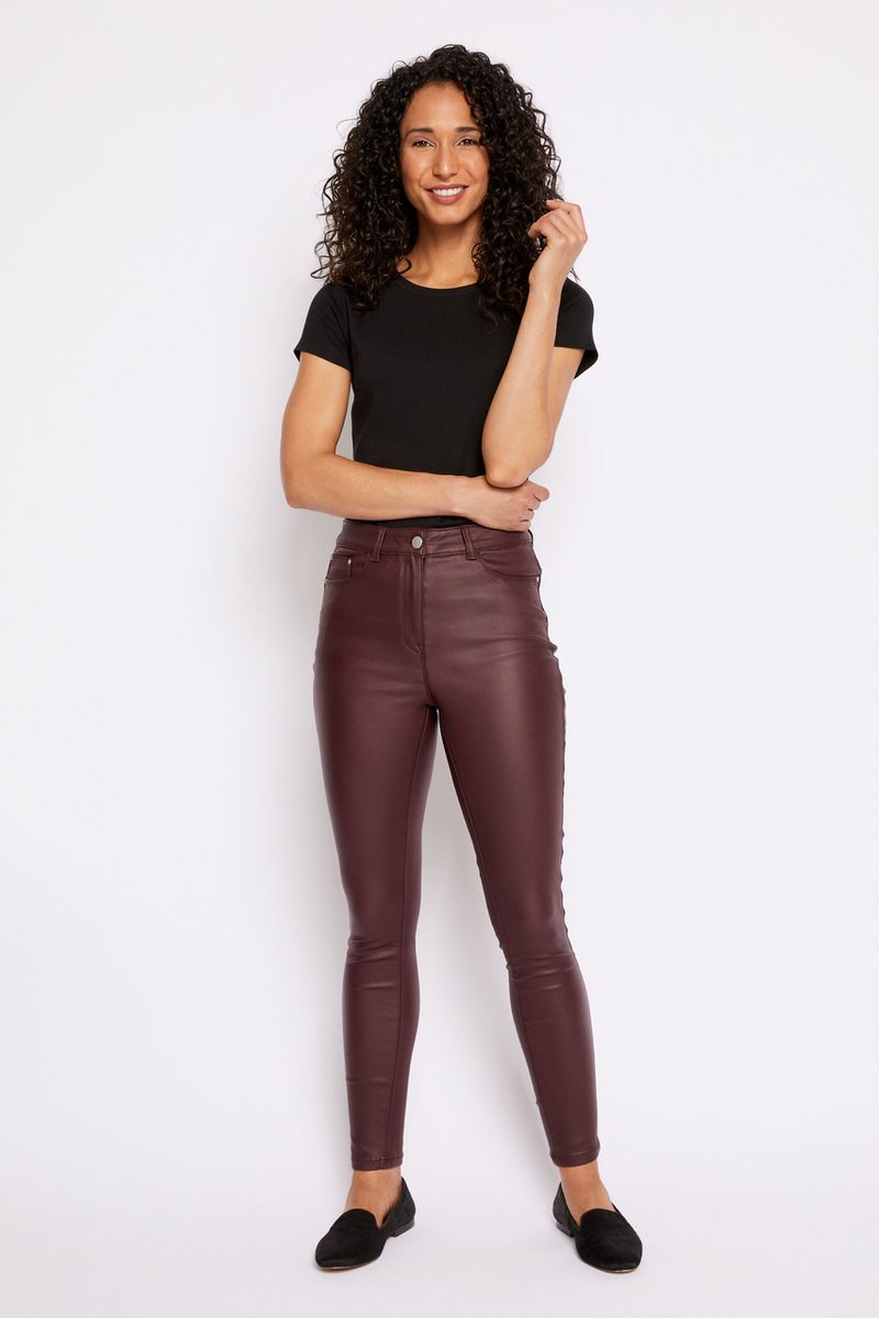 Berry Coated Shaper Jeans