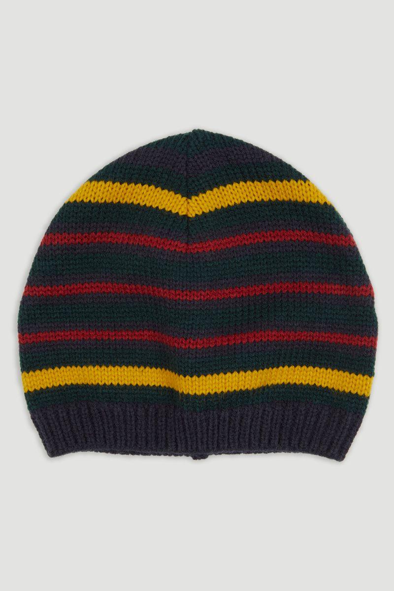 Ochre Stripe Beanie Hat