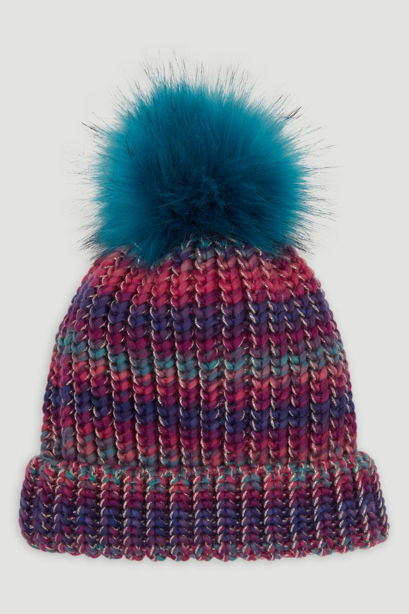 Colourful Twist Bobble Hat