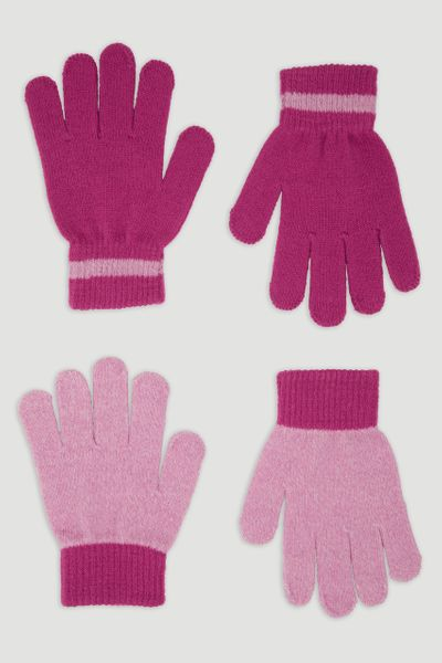 2 Pack Pink Gloves