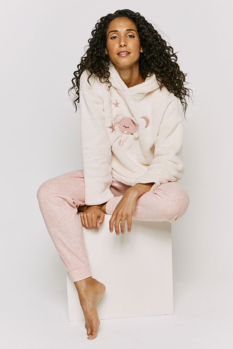 Pink Fleece Lounge Set