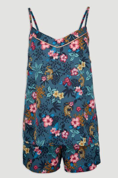Animal Floral Satin Pyjamas
