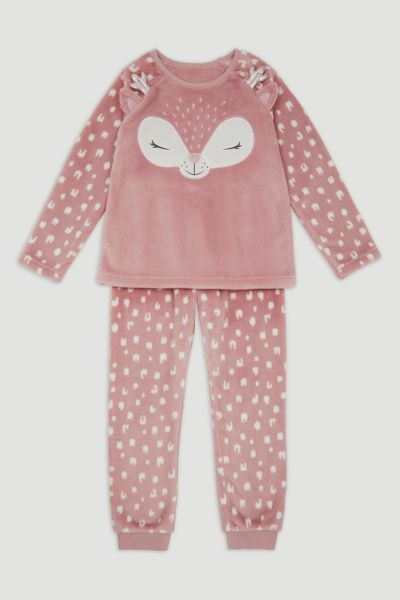 Deer Applique Fleece Pyjamas