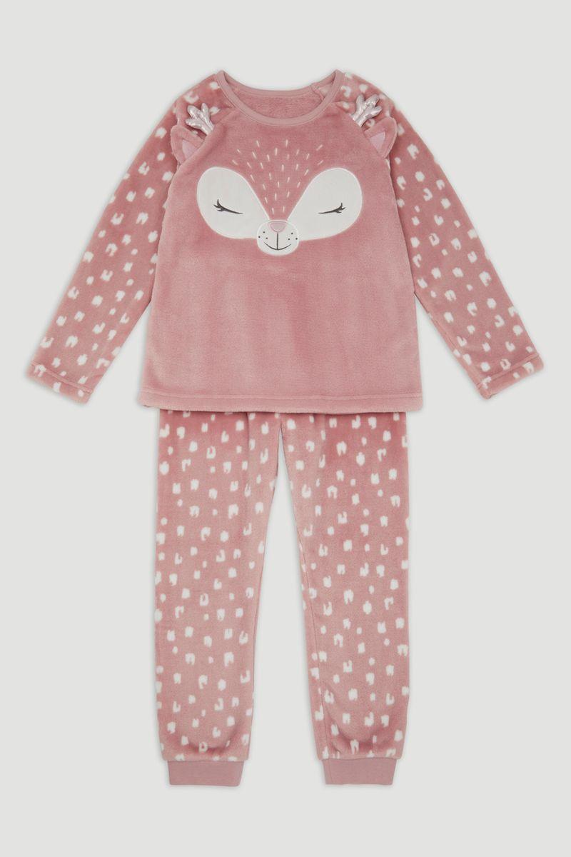 Deer Applique Fleece Pyjamas