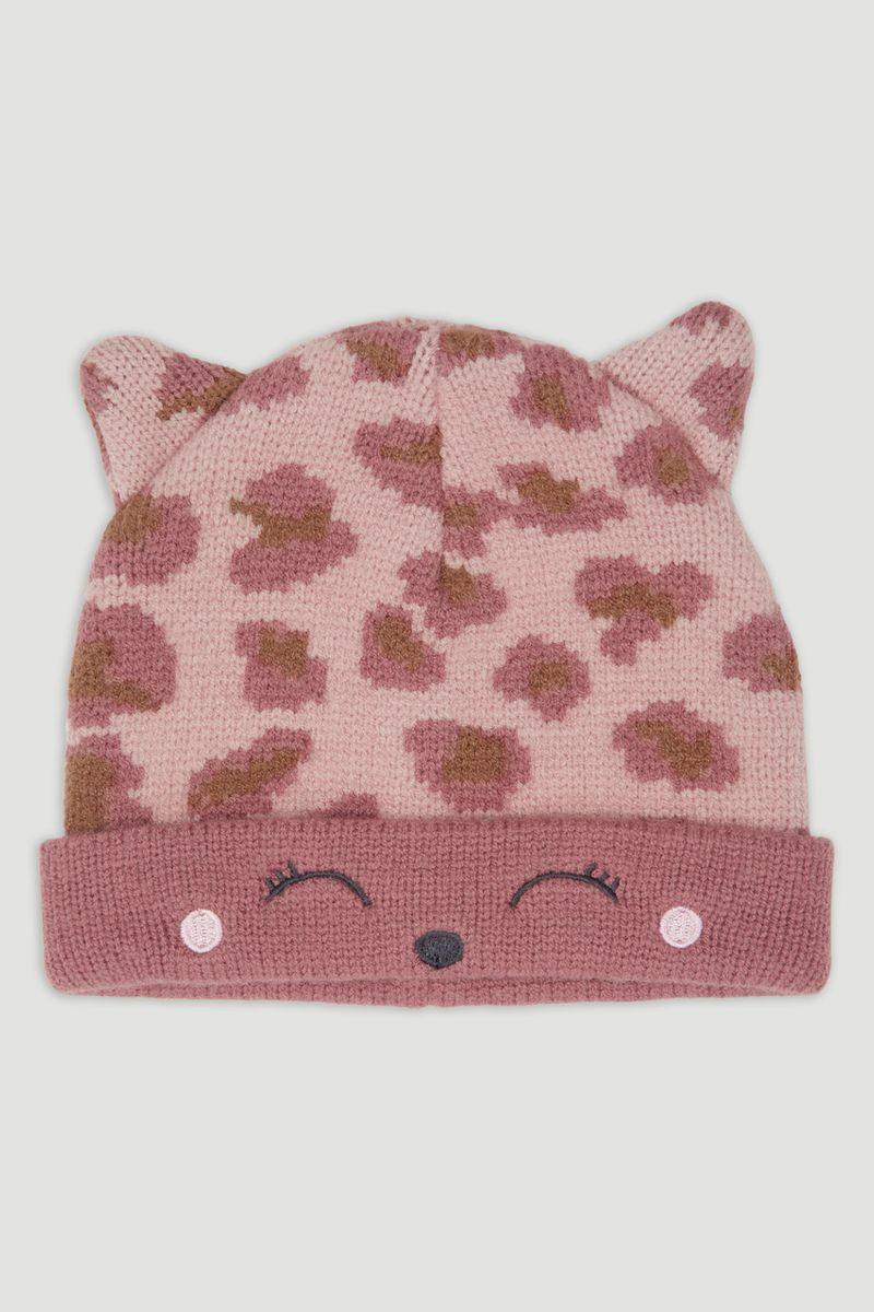 Leopard Knit Hat
