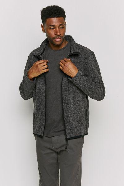 Charcoal Marl Zip Through fleece