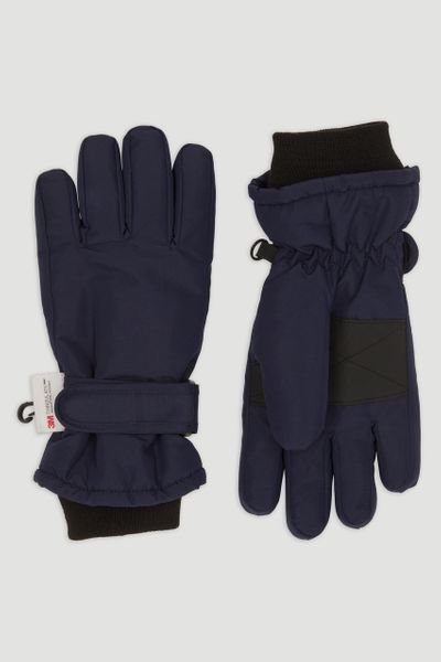 Thinsulate Navy Ski Gloves