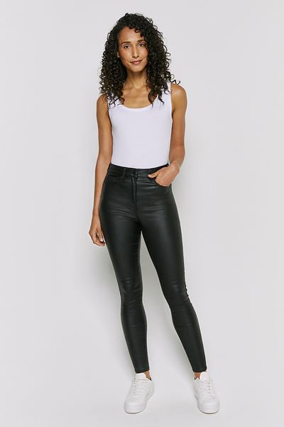 Black Coated Shaper Jeans