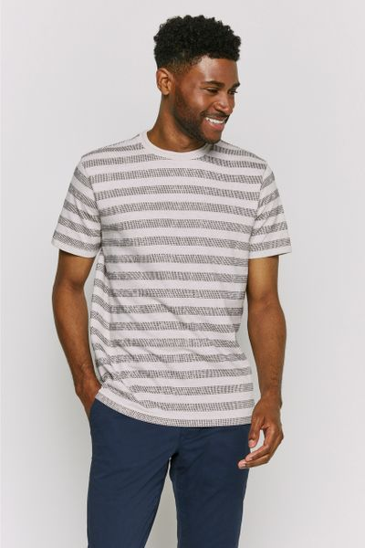 Oatmeal Textured Stripe T-shirt