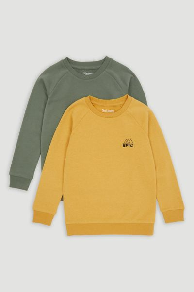 2 Pack Ochre &  Khaki Sweatshirts