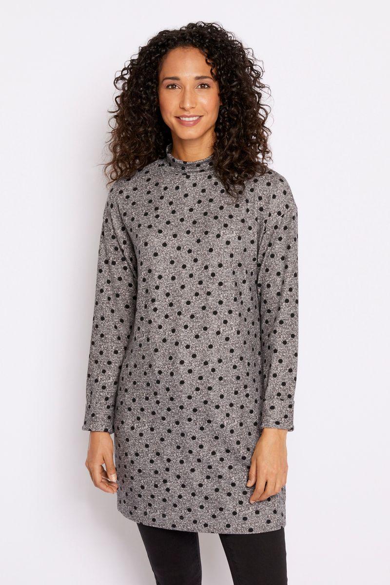 Spot Print Tunic Dress