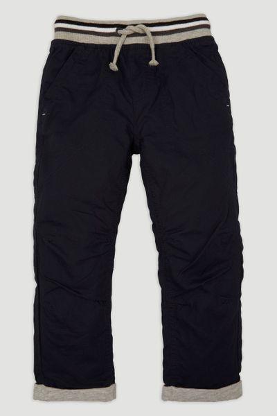 Stripe Rib Navy Trousers