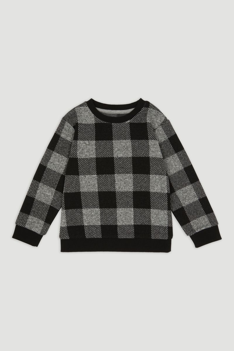Monochrome Check Knit Jumper