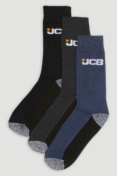 JCB 3 Pack Workwear Socks