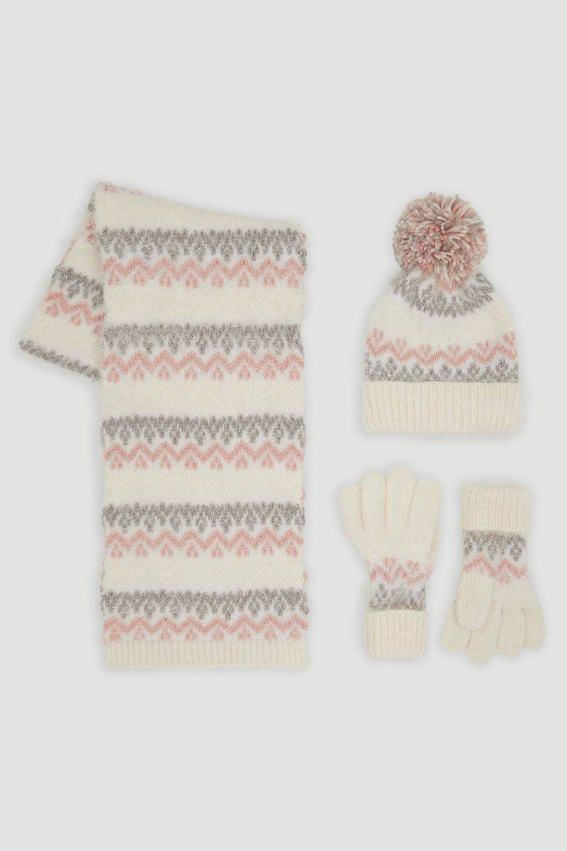 Eyelash Knit 3 Piece Scarf Set