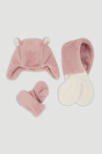 Faux Fur Fleece 3 Piece Set