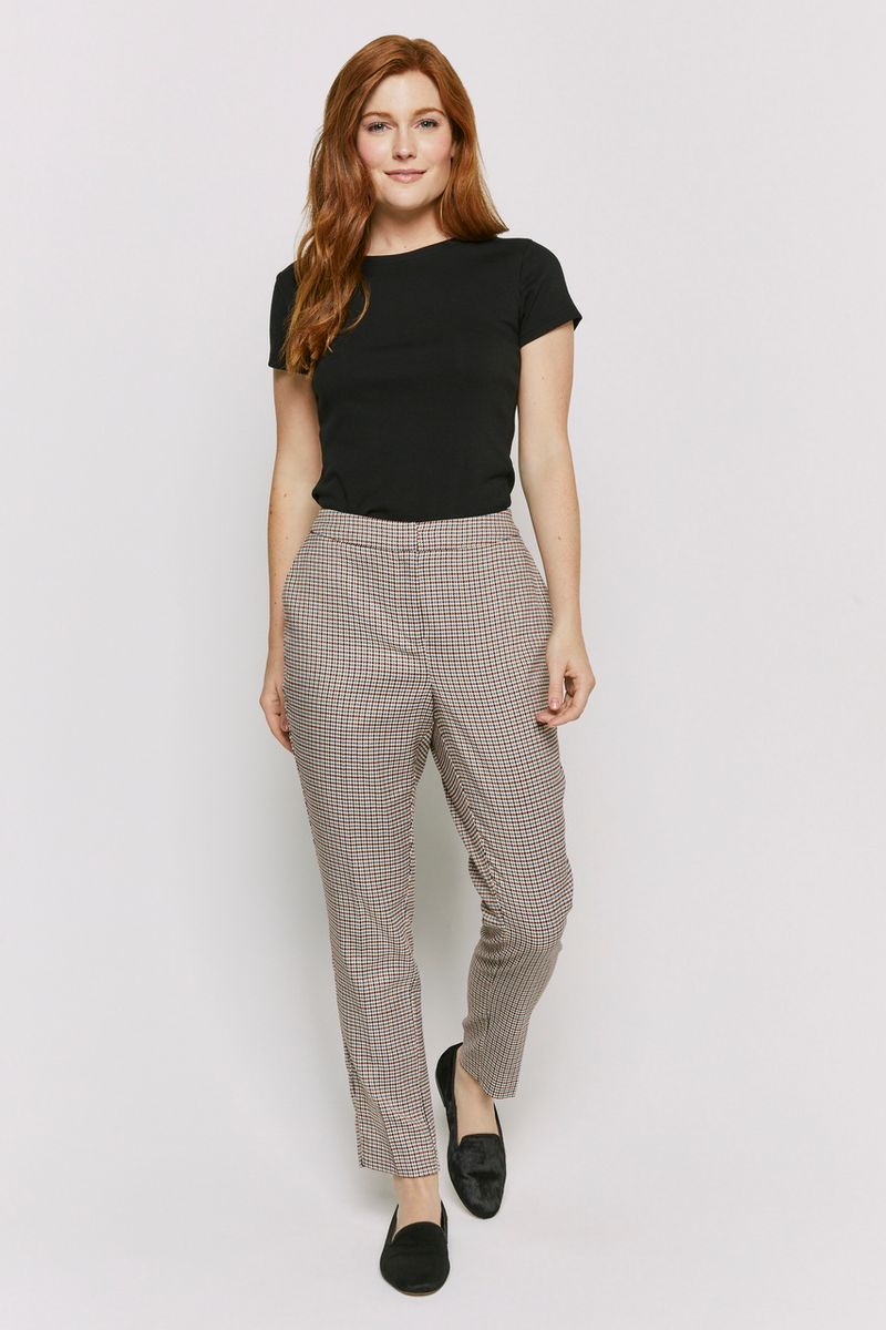 Elasticated Back Check Trousers