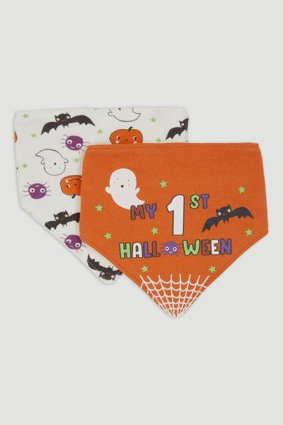 2 Pack My First Halloween Bandana Bibs