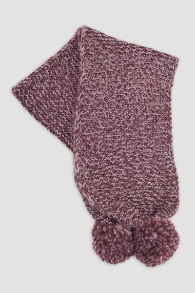 Purple Pom Pom scarf