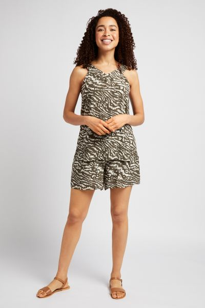 Animal Print Co-ord Vest