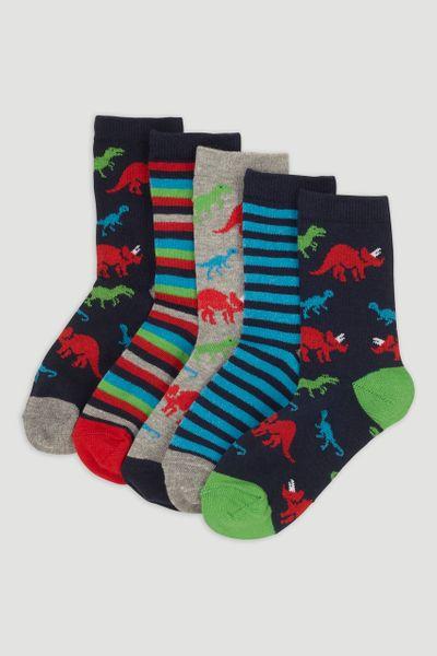 5 Pack Dino Socks