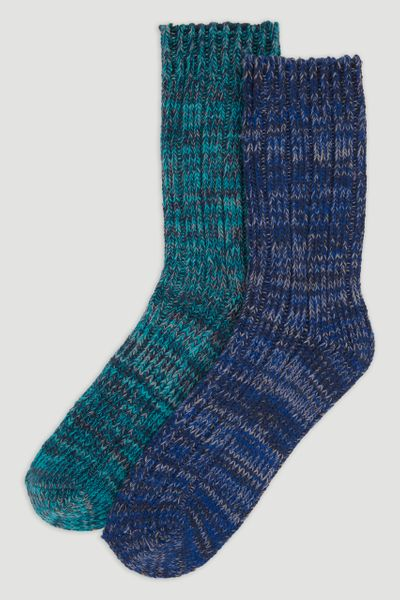 2 Pack Blue Bramble Outdoor Socks