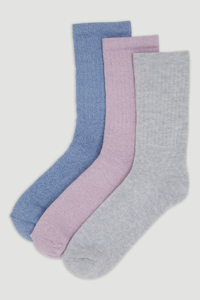 3 Pack Bramble Pastel Socks