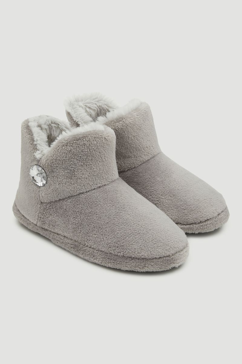 Grey Slipper Boots