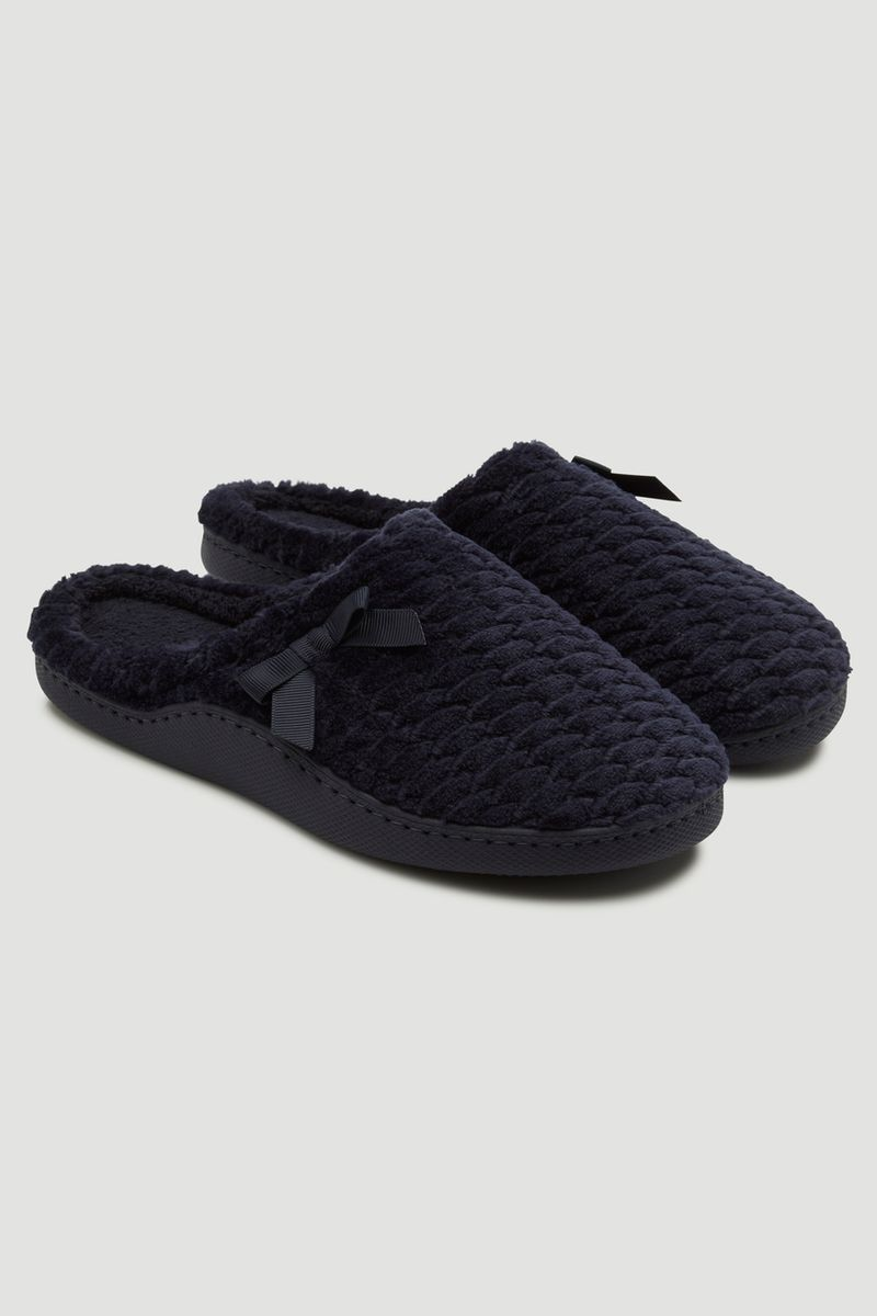 Navy Cupsole Mules