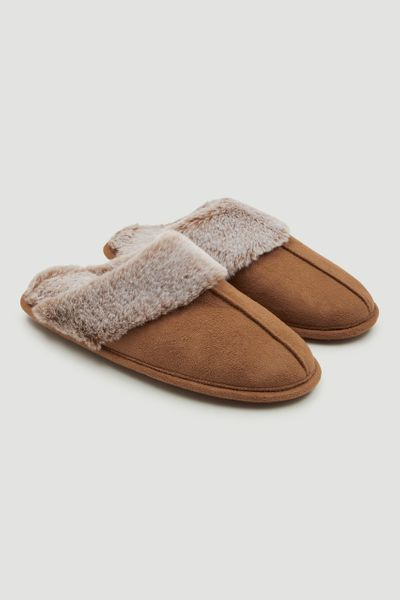 Tan Fur Mules