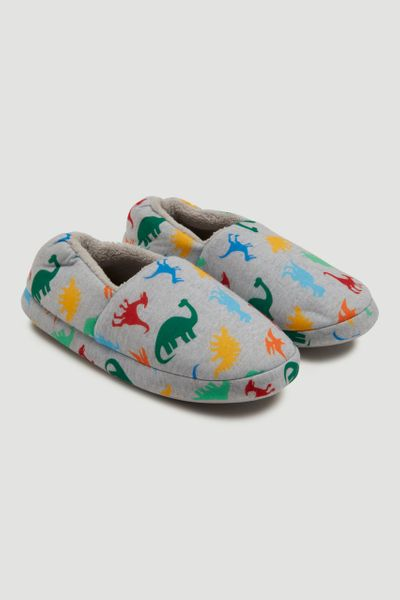 Dino Grey Marl Slippers