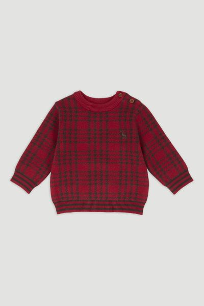 Red Stag Motif Jumper