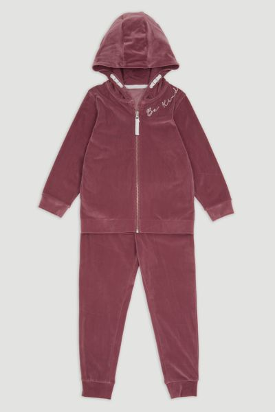 Pink Velour Be Kind Jogger Set