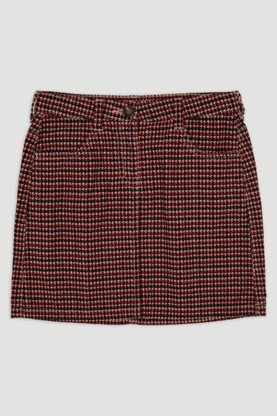Houndstooth Cord skirt