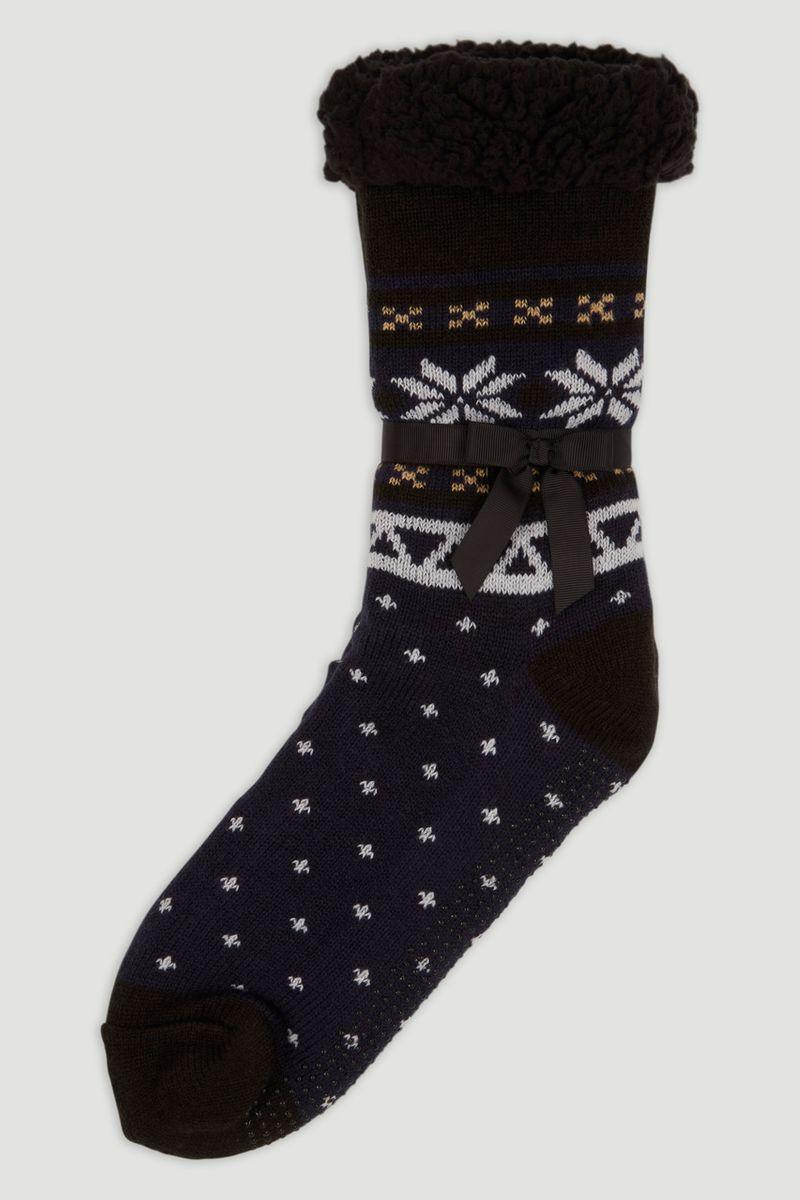 Black Fairisle Lounge Socks