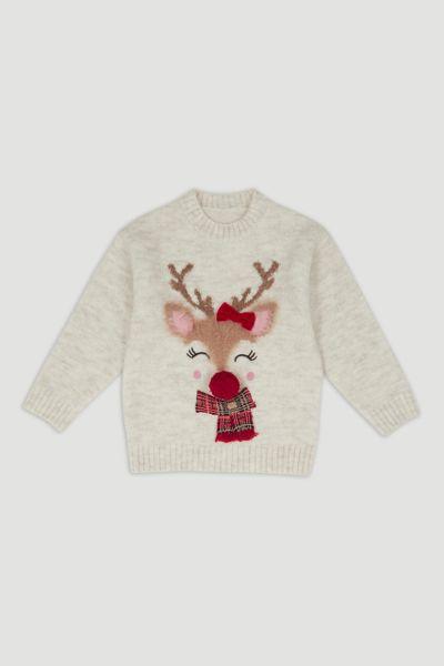 Oatmeal Reindeer Jumper