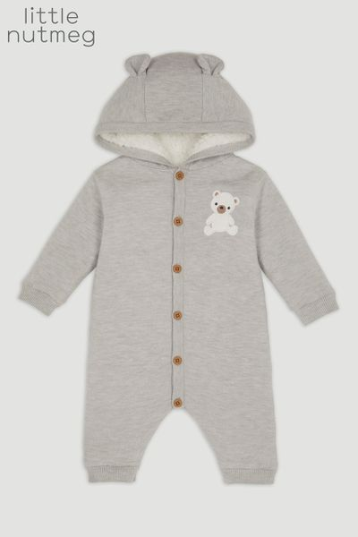 Little Nutmeg Teddy Bear Pramsuit