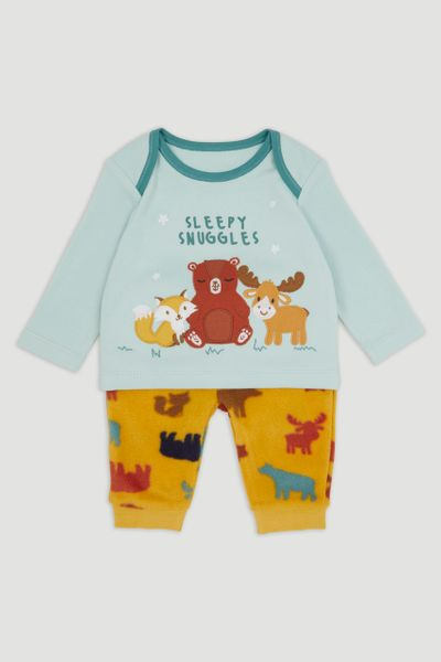 Woodland Animal Fleece pyjamas