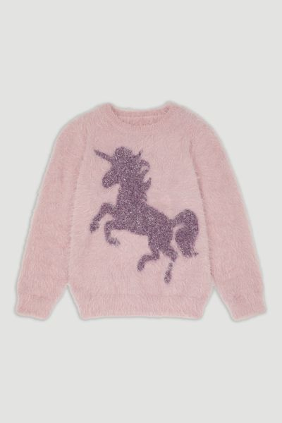 Purple Unicorn Eyelash Jumper