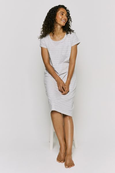 Grey Marl Stripe Nightie