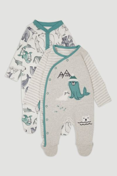 2 Pack Arctic Sleepsuits