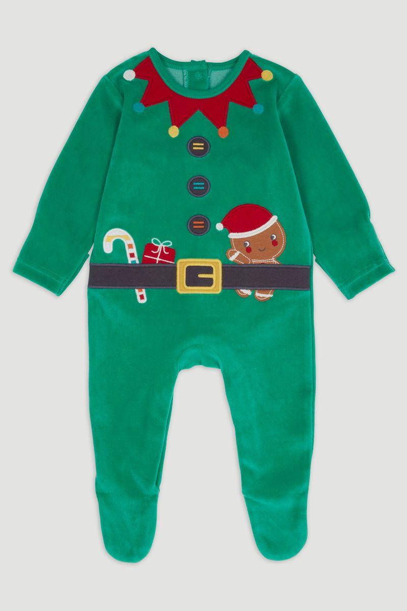 Elf Velour sleepsuit