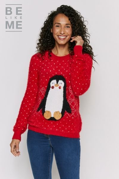 Family Of Womens Penguin Christmas Jumper