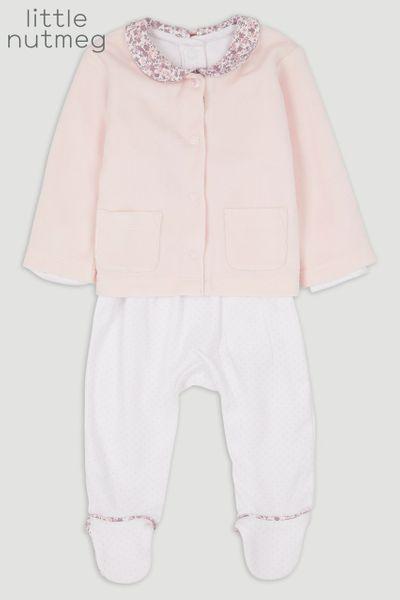 Little Nutmeg Pink Sleepsuit & jacket