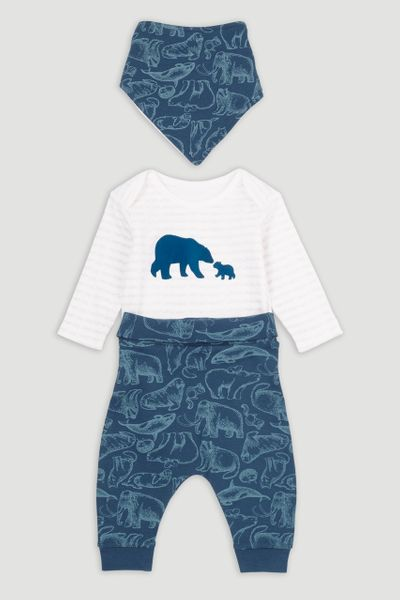3 Piece Arctic Bodysuit Set