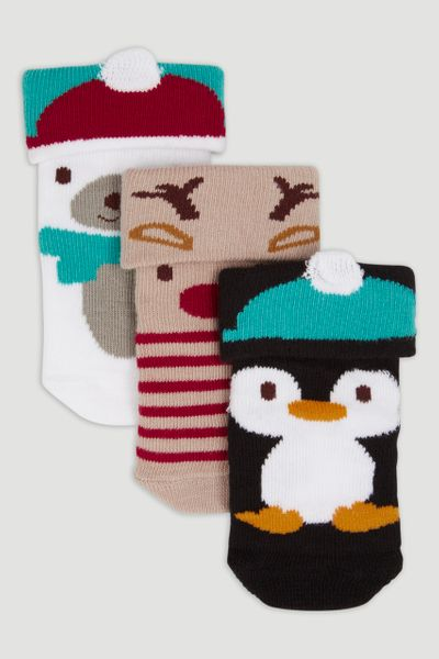 3 Pack Christmas Socks