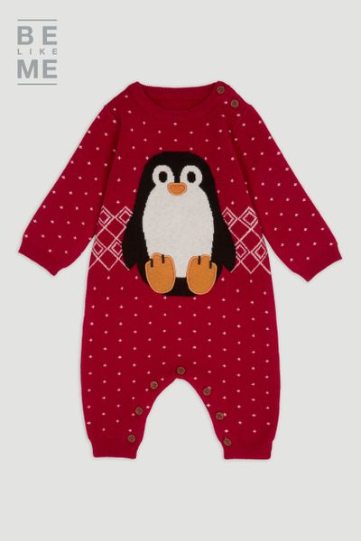 Family Of Christmas Penguin Romper
