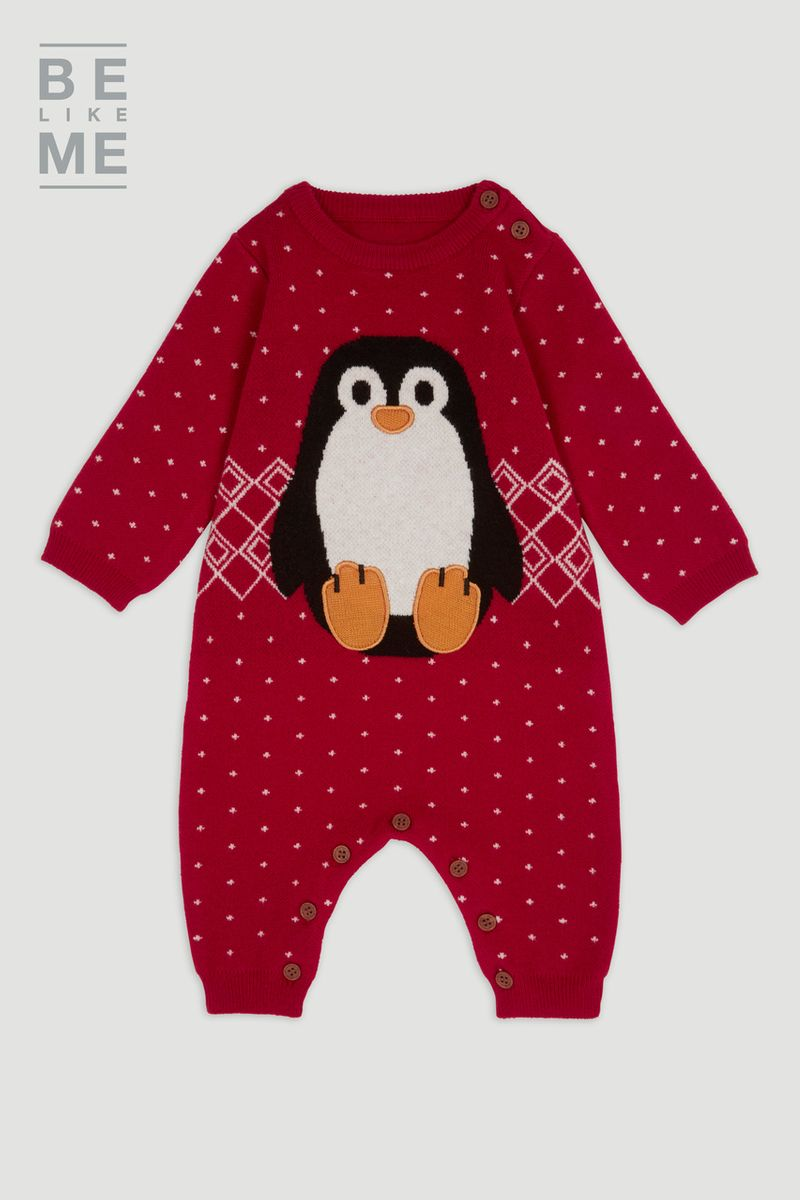 Family Of Christmas Penguin Romper