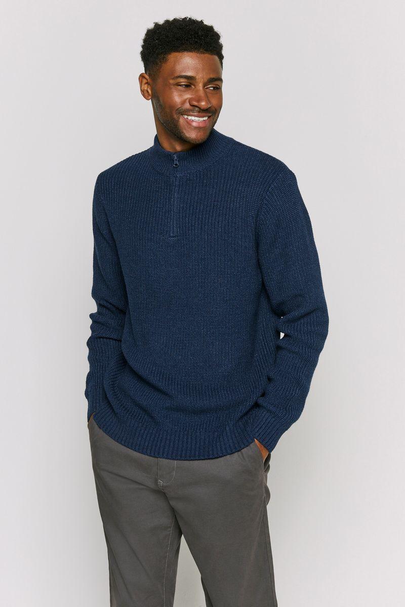 Navy Zip pullover